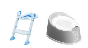 Toalettränare och pottor
