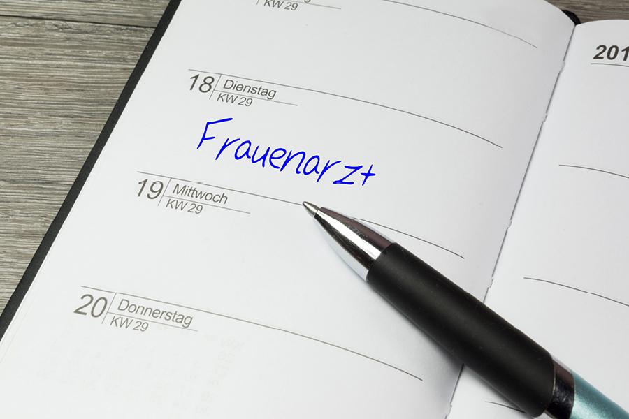 Frauenarzt Termin in Kalender eingetragen
