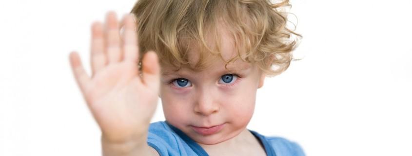 Kind sagt Nein zur Angst