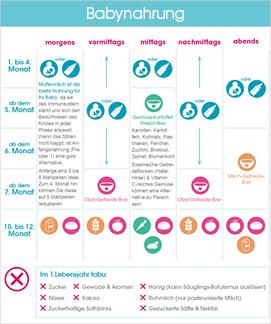 Babynahrung Infografik Ausschnitt