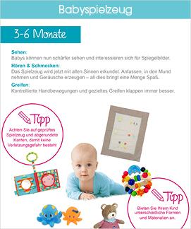 Babyspielzeug Infografik Ausschnitt