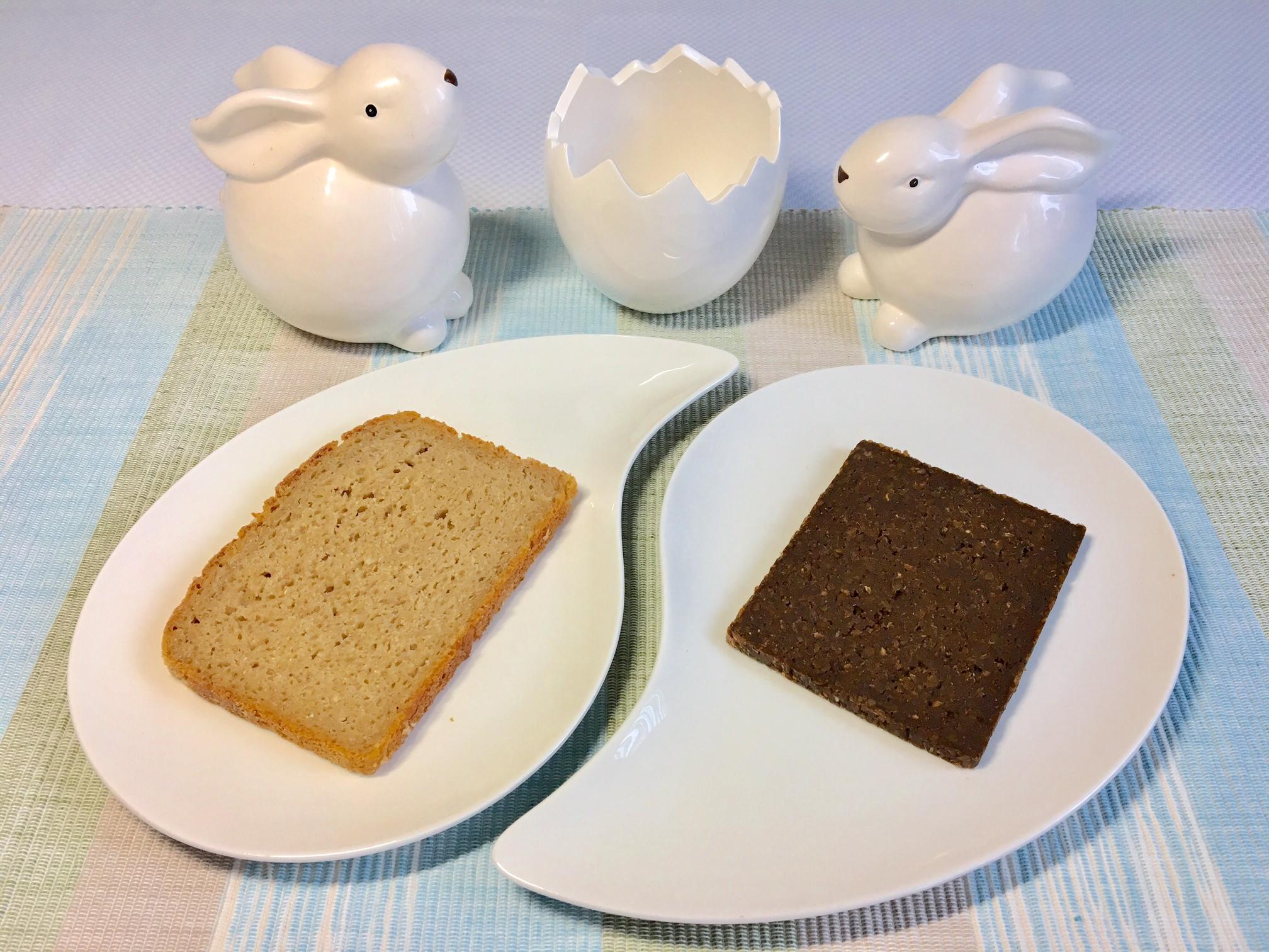 Helles und dunkles Brot.