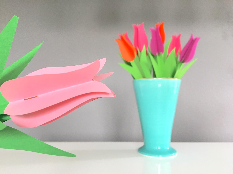 So schön kann ein Strauß aus Papierblumen aussehen.