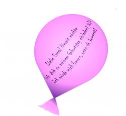 Luftballon basteln