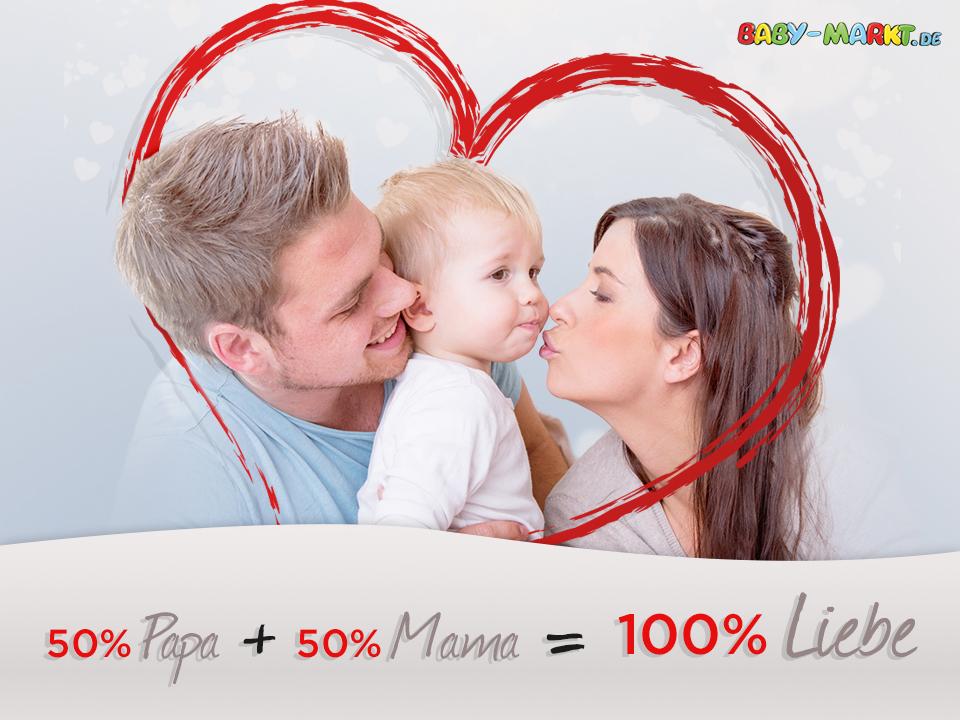 Eltern lieben ihr Baby
