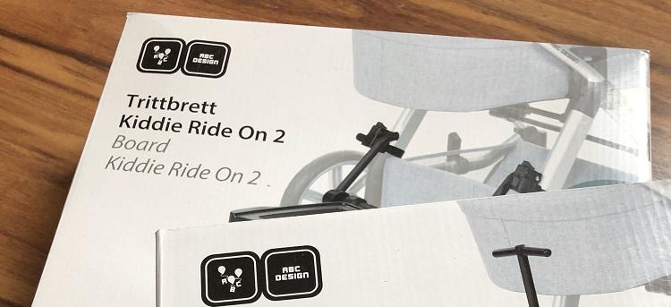 ABC DESIGN Sitz-Trittbrett Kiddie Ride On 2 Schwarz