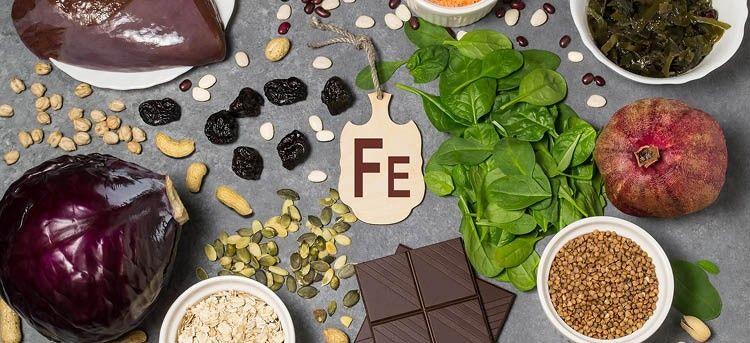 Eisenhaltige Lebensmittel bei Eisenmangel